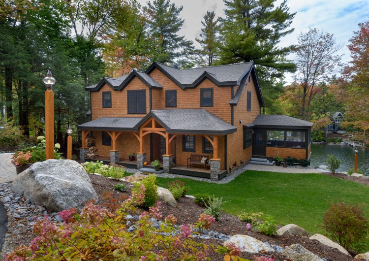 Stunning Woodwork Best of Houzz Design 2019 This design-build custom home is Nestled in a Lake Sunapee in Sunapee NH